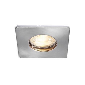 Saxby belysning Speculo Fire fått 1 ljus badrum infälld downlight borstad krom tallrik, glas IP65 80245