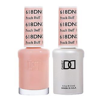 Dnd Duo Gel & Nail Polish Set - Peach Buff 618 - 2x15ml