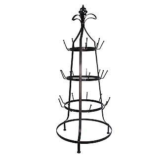ThreeTier Metal  Cup Rack, Black