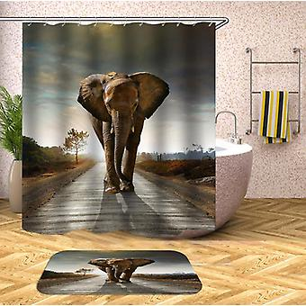 Elephant King Of The Road Shower Curtain