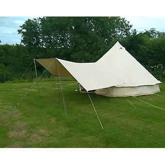 Large Canvas Bell Tent Awning 400 x 240 – 2 pole