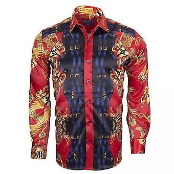 Oscar Banks Plaza Patterned Mens Shirt