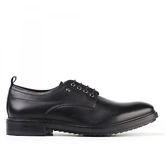 Base London Elba Mens Leather Derby Lace Ups Black