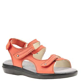 Propét Womens Marina Leather Open Toe Casual Slingback Sandals