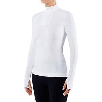 Falke Figur Hugging Reißverschluss Shirt - weiß