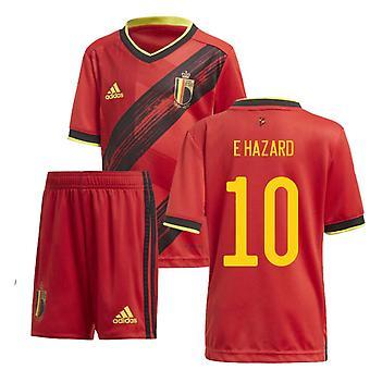 2020-2021 Belgium Home Adidas Mini Kit (E HAZARD 10)