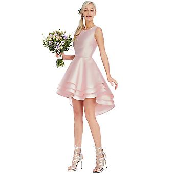 Goddiva Multilayered Sleeveless Mini Dress