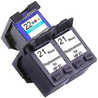 21XL Remanufactured Inkjet Cartridge Set 2  3 Ink Cartridges