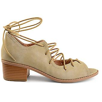 Brinley Co Womens Byrd faux nubuck Ghille Lace-up peep-toe sandaler