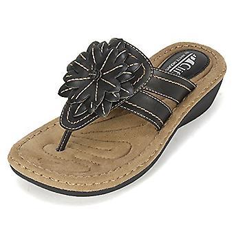 Vita berget Womens Amal öppen tå speciellt tillfälle plattform sandaler