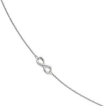 6mm 10k White Gold Polished Infinity With 1inch Ext. Anklet 9 Inch Jewelry Gifts for Women