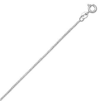 925 Sterling Silver 24 Pouces Light Box Chain Necklace .8mm Wide With Spring Ring Closure Jewelry Gifts for Women