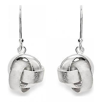 bastian inverun - 925 silver earrings, scratch matt - 22080