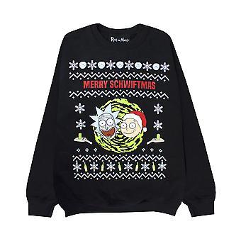 Rick And Morty Men's Christmas Jumper Merry Schwiftmas Funny Sweatshirt