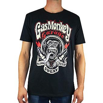 Gas Monkey Garage 'quot;Blood, Sweat and Beers'quot; Sparkplugs Men-apos;s T-Shirt