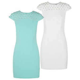 Darling Women's Jewel Pearl Detail Maddy Shift Dress