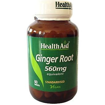 Health Aid Root Ginger 560 mg Ginger Root 60 tabletten