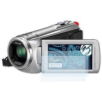 Bruni 2x Schutzfolie kompatibel mit Panasonic HC-V210 Folie