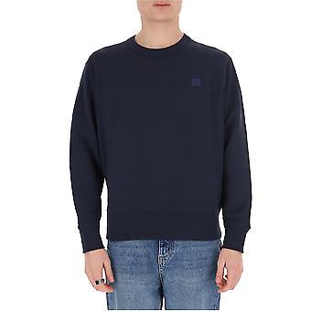 Acne Studios 2hl173navy Men's Blue Cotton Sweatshirt