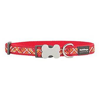 Red Dingo Collar para Perros Flanno Rojo L