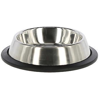 Kerbl rostfritt stålmatare med gummibas (hundar, skålar, matare & vattenbehållare)