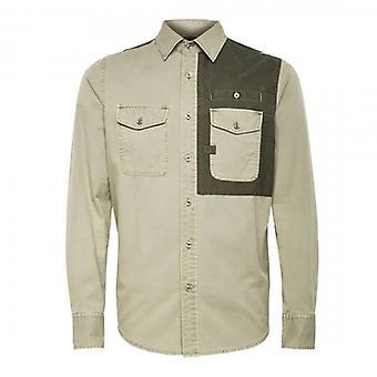 G-Star Raw Strek Shamrock Green Cotton Twill Shirt D16155