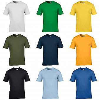 Gildan Mens Premium anel de algodão fiado t-shirt manga curta