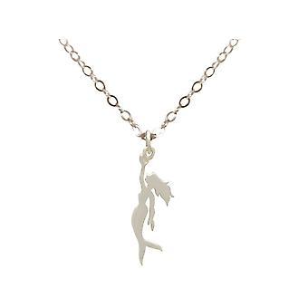 GEMSHINE Maritim Nautics halsband sjöjungfru 925 silver, guldpläterade eller ros