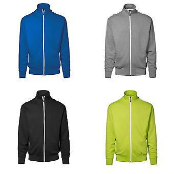 ID mujeres/damas completo Zip Regular ajuste contraste raya chaqueta