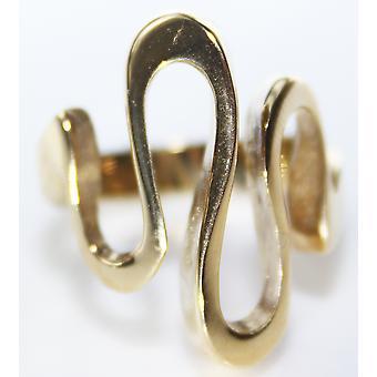 Ah, não! Jóias de ouro sobre anel de redemoinho de aço inoxidável. 7.8gr Peso Total.