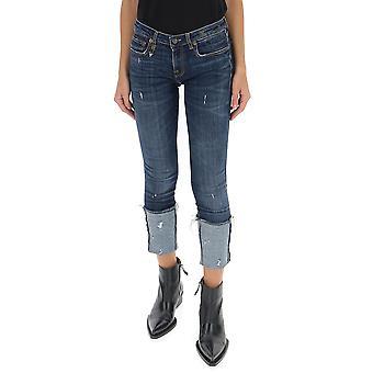 R13 R13w4033664 Women's Blue Cotton Jeans