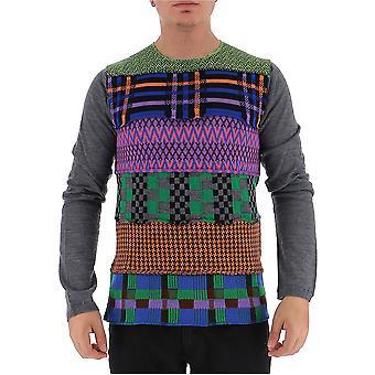 Comme Des Garçons Shirt W275141 Men's Multicolor Wool Sweater
