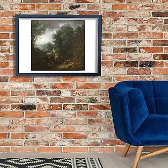 Thomas Gainsborough - uma paisagem grande cartaz impressão giclée