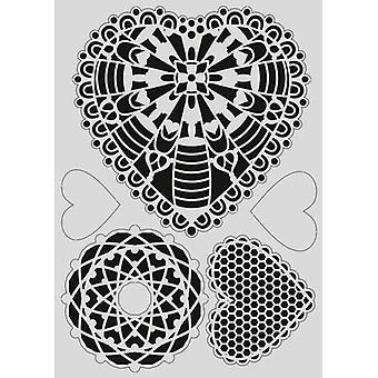 Pronty Mask stencil - Gel heart 470.803.038 - A4