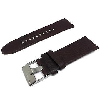 רצועת שעון עור דיזל אותנטית חום עבור dz4290