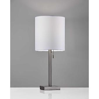 "9"" X 9"" X 22"" Børstet stål metal bordlampe"