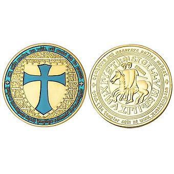 De tempelier van de ridder - brede lichte munt van het kruisschild