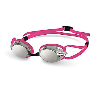 HEAD Venom Racing Swim Goggles - Smoke Mirrored Lens - Pink