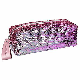 Depesche Topmodel 10480 Pencil Case With String Sequins Rose Multicoloured