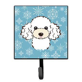 Carolines Treasures  BB1691SH4 Snowflake White Poodle Leash or Key Holder
