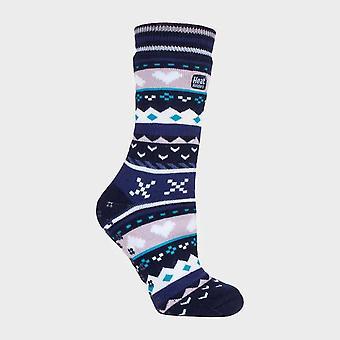 New Heat Holders Women's Soul Warmer Socks Navy/Black/White
