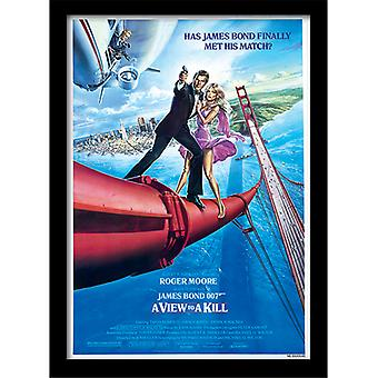 James Bond 007 A View to a Kill One Sheet Framed Plate 30*40cm