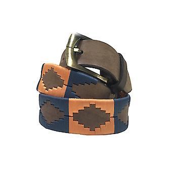 Carlos diaz unisex  brown leather  polo belt cdupb44