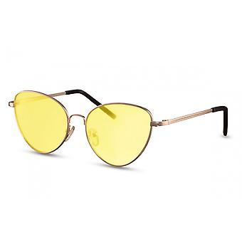 Sonnenbrillen  Damen Schmetterling Kat.2 gold/gelb (CWI1354)