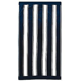 Bambury Egyptian Cotton Beach Towel Navy Stripe