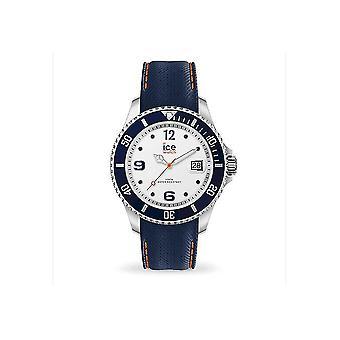Ice Watch - Wristwatch - Unisex - ICE steel - White blue - Medium - 3H - 016771