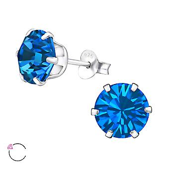 Round Crystal From Swarovski® - 925 Sterling Silver Ear Studs - W29475x