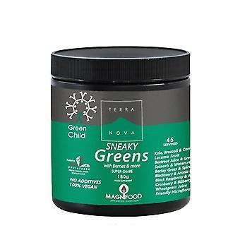 تيراانوفا-مسحوق الخضر الأخضر للأطفال الصغير اللون 180 جرام (T4705)