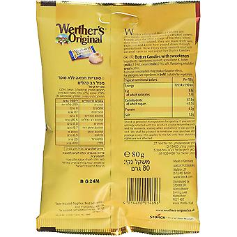 Werthers Original Butter Candies, Sugar Free, 18 verpakkingen van 80g