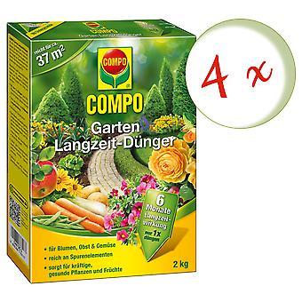 Sparset: 4 x COMPO jardin engrais à long terme, 2 kg